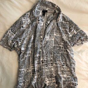 Forever 21 Newsprint Shirt
